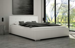 Łoże tapicerowane FERIA 180 ze stelażem łóżko