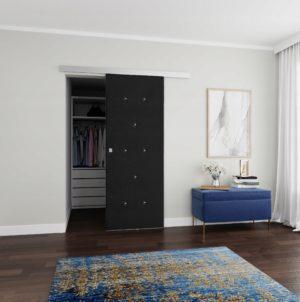 Drzwi przesuwne naścienne tapicerowane DIAMENT 80