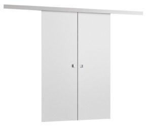 Drzwi przesuwne naścienne MULTI DUO 120 Białe