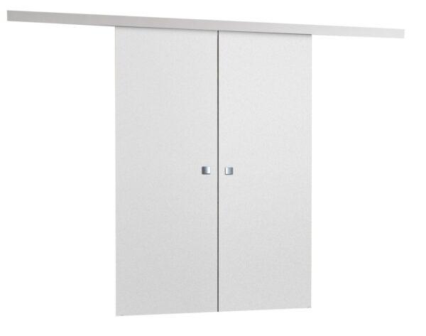 Drzwi przesuwne naścienne MULTI DUO 140 Białe
