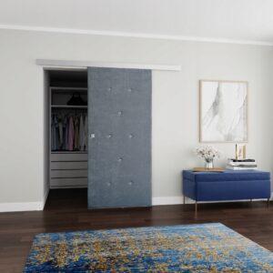 Drzwi przesuwne naścienne tapicerowane DIAMENT 100