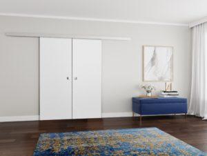 Drzwi przesuwne naścienne MULTI DUO 160 Białe