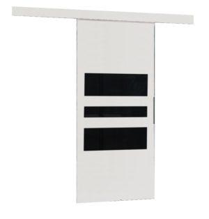 Drzwi przesuwne naścienne MULTI 80 białe wzory