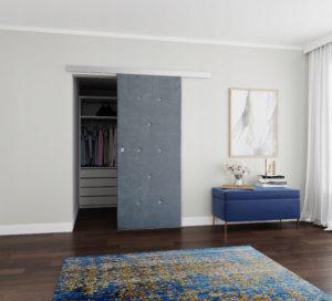 Drzwi przesuwne naścienne tapicerowane DIAMENT 90