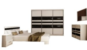 Sypialnia BARCELONA 250 6 elementów Biała Sonoma