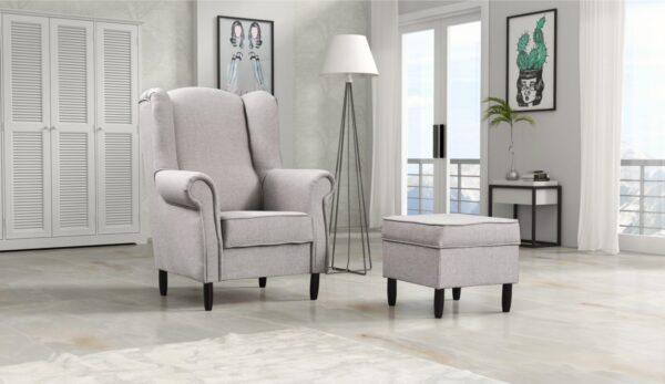 Fotel + pufa TOM wypoczynek salon