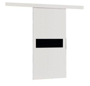 Drzwi przesuwne naścienne MULTI 90 białe wzory