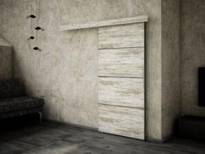 Drzwi przesuwne naścienne MULTI PLUS 80