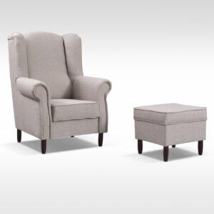 Fotel + pufa TOM