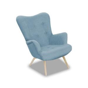 Fotel + pufa TEDDY wypoczynek