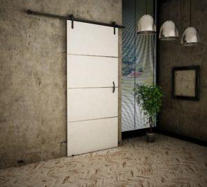 Drzwi przesuwne naścienne LOFT PLUS 100 UCHWYT GRATIS