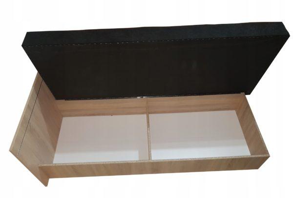 Funkcja pojemnika na pościel tapczanu Berta