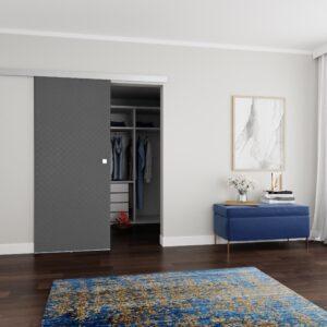 Drzwi przesuwne naścienne tapicerowane MILANO 80
