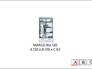 Szafa przesuwna MARGO BIS 120
