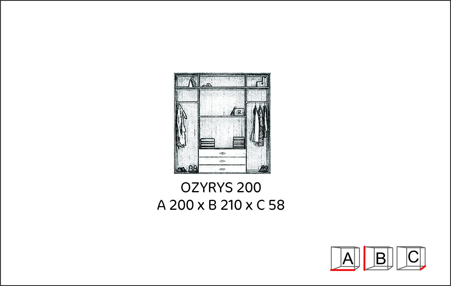 Szafa OZYRYS 200