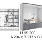 Szafa przesuwna LUIS 200