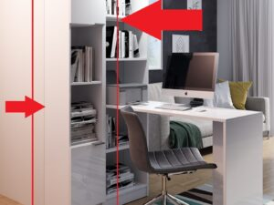 Regał słupek biurowy lub łazienkowy