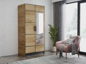 Szafa dwudrzwiowa garderoba z lustrem DIOR 105
