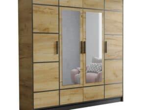 Szafa czterodrzwiowa garderoba z lustrem DIOR 207